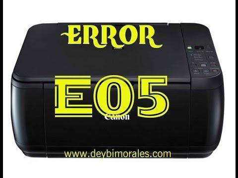 Error E05 solucion  impresora canon MP280 parte 1