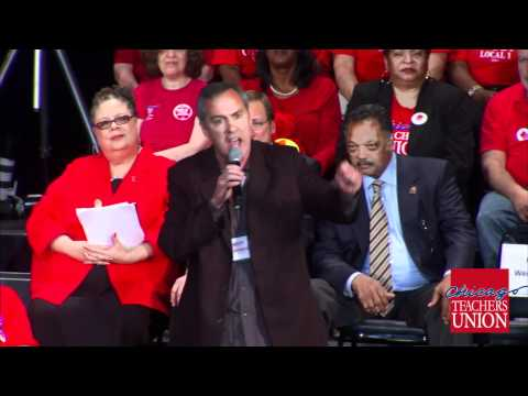 CPS Parent Matt Farmer Puts Penny Pritzker on Trial at CTU's STANDS STRONG RALLY