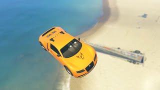 EPIC BEACH LANDING RACE (GTA 5 Funny Moments)