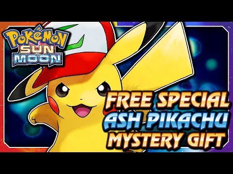 Pokémon Sun & Moon - FREE Ash Hat Pikachu Serial Code Mystery Gift Event! (ENGLISH / NORTH AMERICA)