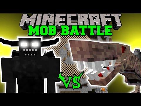 BLACK DEMON VS NASTYSAURUS - Minecraft Mob Battles - Minecraft Mods