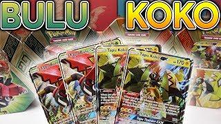 TAPU BULU GX + TAPU KOKO GX Island Guardian Tins X4 Pokemon Card Opening