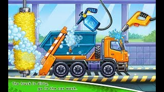 #3 Truck games for kids - build a house 🏡 car wash |Baby games| puzzel | Truck  games for KIDS