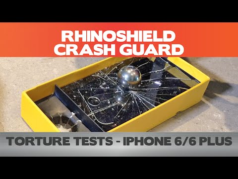 Did it pass the test? RhinoShield Crash Guard Torture Tests (11.5 ft drop, 200g screen test)