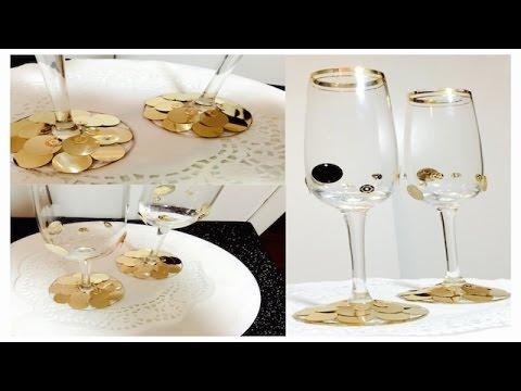 Aprenda a decorar copas para bodas bodas de oro youtube - Ideas para decoracion ...