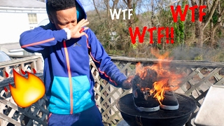 REVENGE PRANK ON GIRLFRIEND!!! ( BURNING UP JORDANS)