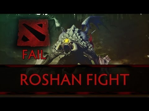 Dota 2 Fail - The Level One Roshan Fight