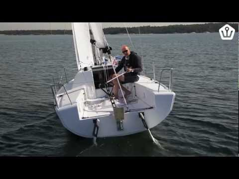 Elan 210 sailboat tested in the Stockholm Archipelago