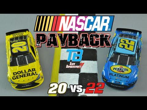 NASCAR PAYBACK Episode #1: Matt Kenseth vs Joey Logano | STOP MOTION RACING
