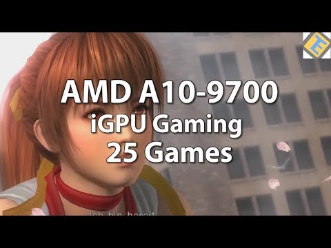 AMD A10-9700 Gaming. 25 Games tested. AMD 10-9700 Review. iGPU Gaming Performance