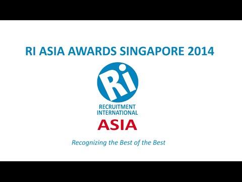 Recruitment International Asia Awards 2014 - Singapore