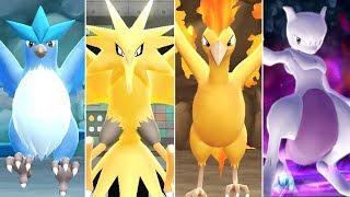 Pokémon Let's Go Pikachu & Eevee - All Legendary Pokémon Locations