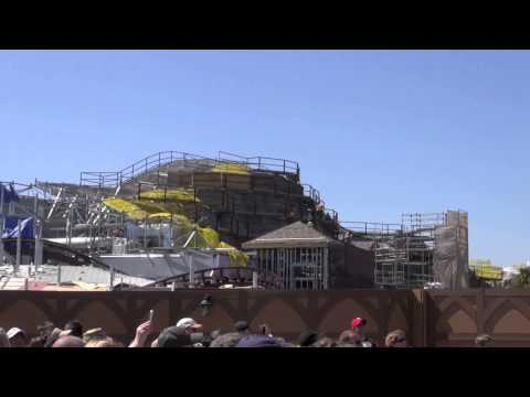 Seven Dwarfs Mine Train Coaster Construction Update Magic Kingdom Walt Disney World Mar 8th 2013