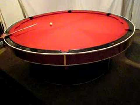 Round Pool Table Youtube
