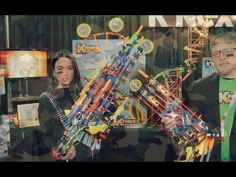 Build Blasters. Coasters. & Big Ideas with K'NEX at Toy Fair 15'