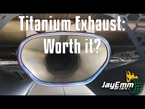 The £5,500 Lotus Titanium Exhaust - Loud Noises and Comparison with Standard Stainless (Evora/Exige)