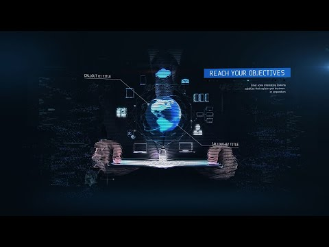 Abstract Digital Futuristic Bokeh Sci-Fi Water | Motion Graphics - Videohive template