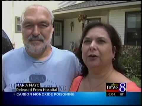 Family injured by CO2