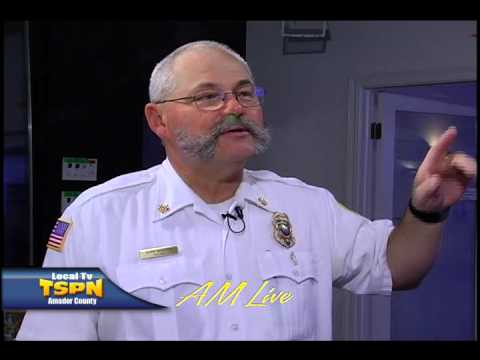 Mike Morton, Jackson Fire Chief on AM Live TSPN TV 2-6-13