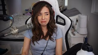 "Pokimane CRIES after watching ""Shelter"" MV"