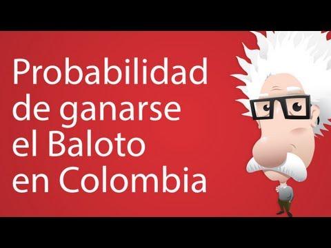 Probabilidad de ganarse el baloto en colombia (explicación simple)
