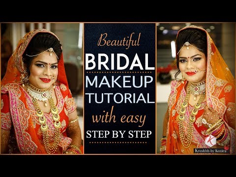 Indian Bride Wedding Makeup Tutorial | Step By Step Complete Bridal Makeup | Krushhh By Konica