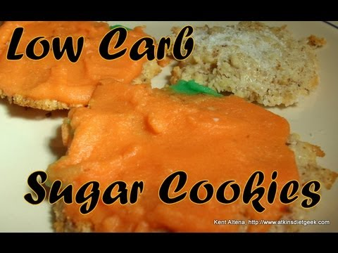 Atkins Diet Recipes: Low Carb Halloween Sugar Cookies (E-IF)