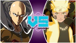 SAITAMA vs NARUTO! (One Punch Man vs Naruto Animation) | REWIND RUMBLE