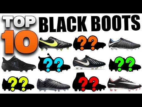Top 10 Black Boots 2017! Best Blackout Soccer Cleats