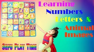 Sefu play and learn letters and numbers game with animal images. Kid friendly creative videos 2018