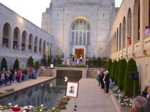 Australian Warm Memorial, Canberra, The Last Post