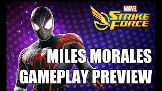 Miles Morales Gameplay Preview - Marvel Strike Force