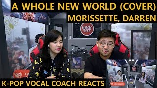 "[ENGsub]K-pop Vocal Coach reacts to Morissette, Darren - ""A Whole New World (Aladdin's Theme)"""
