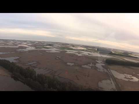Vuelo sobre zona inundada en Necochea