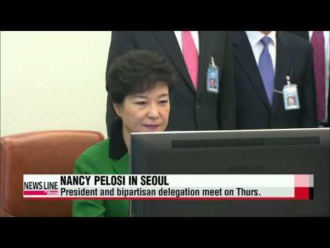 President Park Geun-hye to meet with U.S. Democratic Leader Nancy Pelosi   박 대통령
