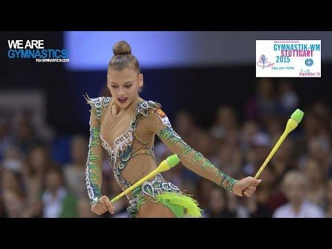 Aleksandra SOLDATOVA (RUS) 2015 Rhythmic Worlds Stuttgart - Qualifications Clubs