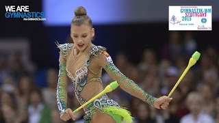 Aleksandra SOLDATOVA (RUS) 2015 Rhythmic Worlds Stuttgart - Qualifications Clubs