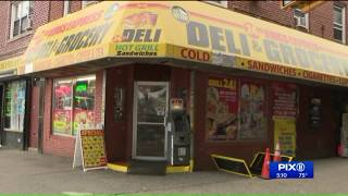5 men wanted in violent robbery outside Brooklyn deli