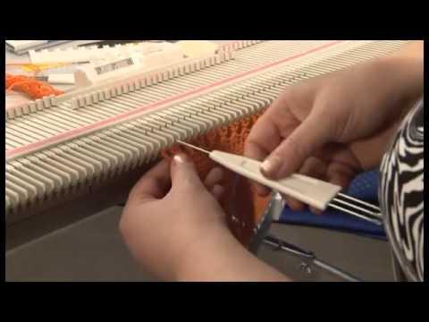 Как вязать на вязальной машине silver reed
