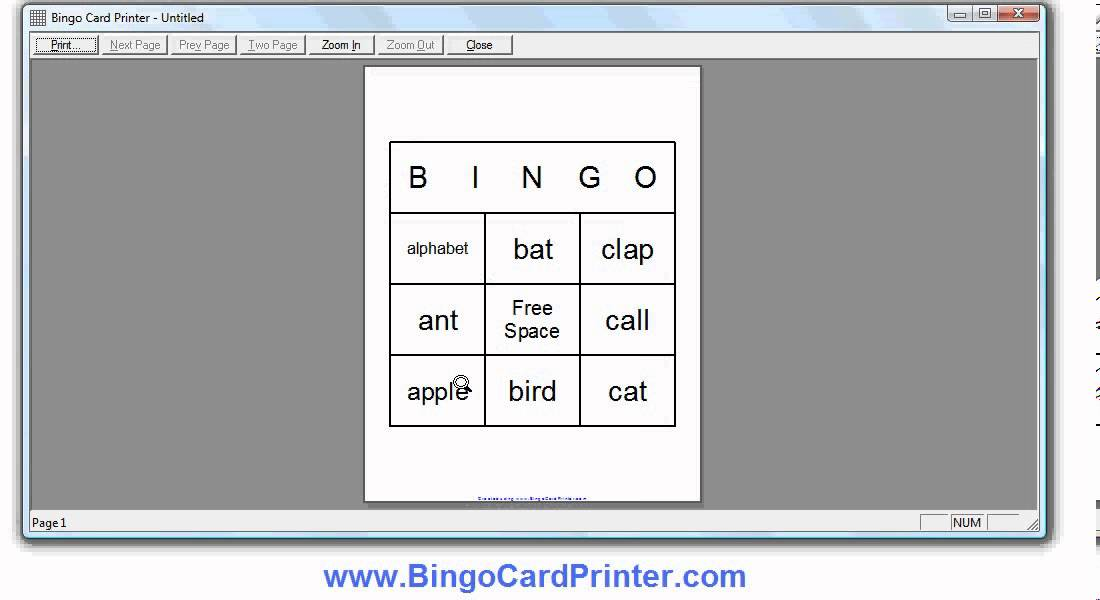3x3 Bingo Card Generator Software - YouTube