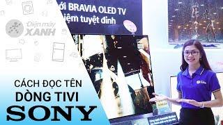 Cách đọc tên các dòng tivi Sony - Kiến thức hay cần biết   Điện máy XANH
