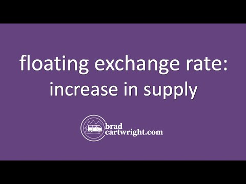 Exchange Rates Series:  An Increase in Supply  in Floating Exchange Rate System