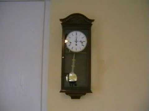 My westminster chime clock chiming and striking 3pm