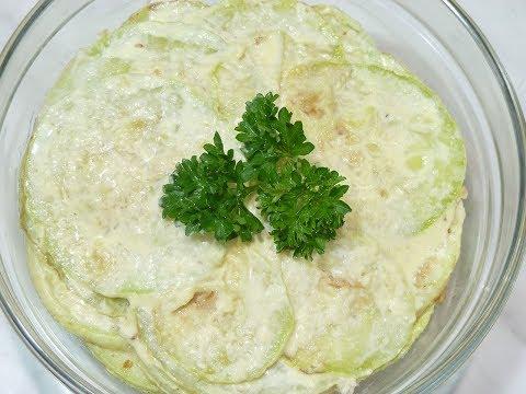 Как приготовить кабачки в чесночном соусе. Два блюда в одном рецепте.