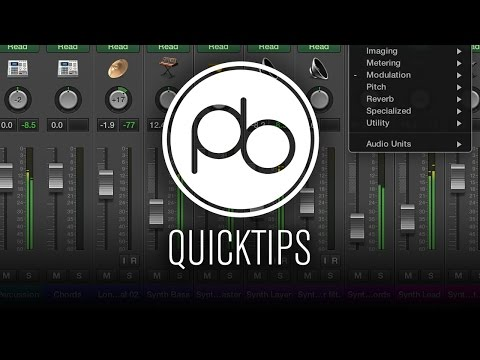 Logic Pro X Quick Tip: Pre-Fader Metering