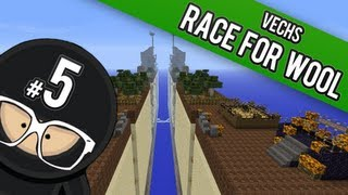Minecraft Super Hostile PVP Race For The Wool - Part 5 Vechs CTM Map