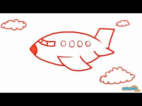 Plane Simple Drawing How to Draw an Airplane Step