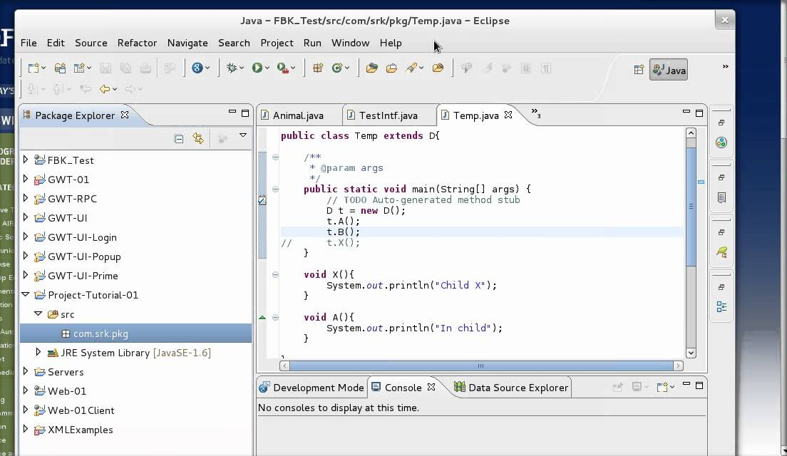 how to develop java application in eclipse