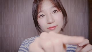 ASMR Simple Handmovement & Face Touching with a litte bit of Layered Sound