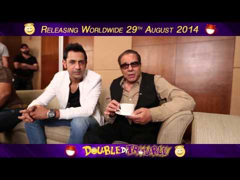 Double Di Trouble:Promotional Tour Delhi :Dharmendra :Gippy...
